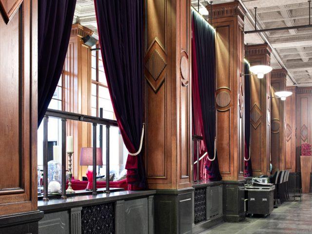 Clarion hotel post interiör fönster och textilier